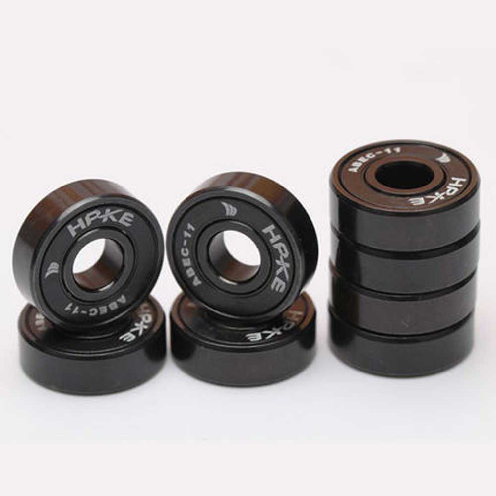 8pcs Black Ceramic Skate Bearings Abec 11 High Speed