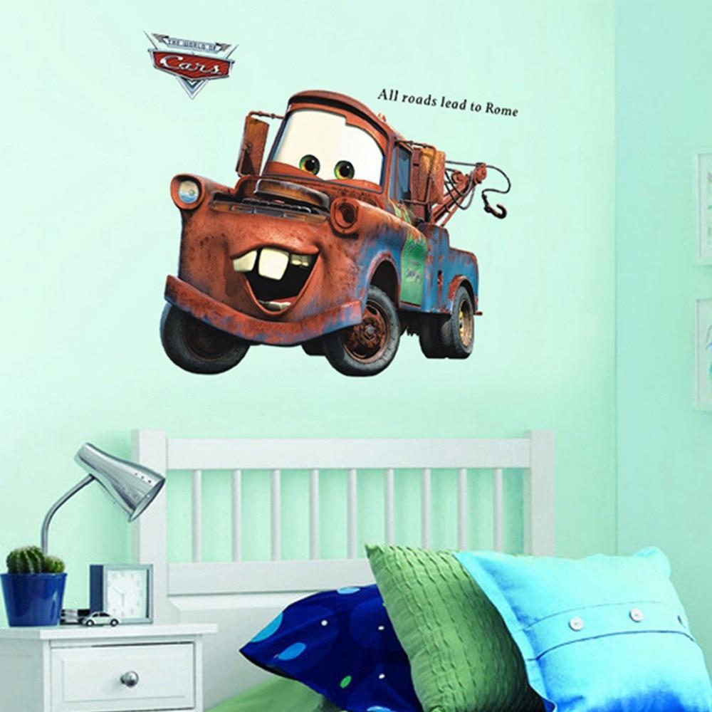 3d pegatinas de pared para niños sala de dibujos animados Pixar Cars Mater todos