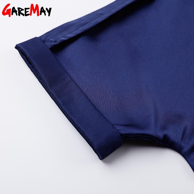 Vestido de satén para mujer Elegante talla grande Vestido azul - Ropa de mujer - foto 6