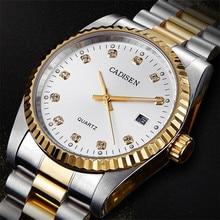 цены 2018 CADISEN Men's Sport Watch Luxury Brand Quartz Watch Reloj Hombre Male Clock Date Hour Waterproof Relogio Masculino Gift