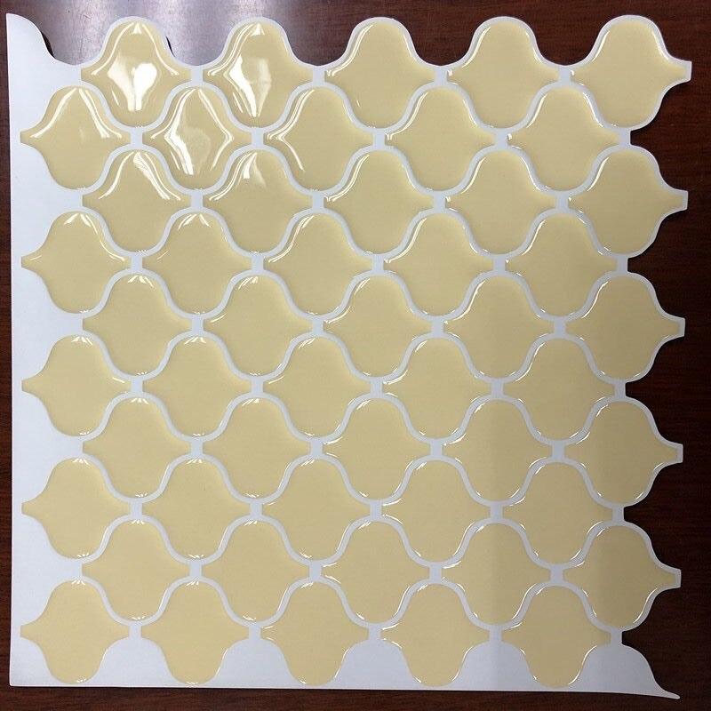 Yellow Arabesque Moroccan Tile Self Adhesive Backsplash 3D Mosaic ...