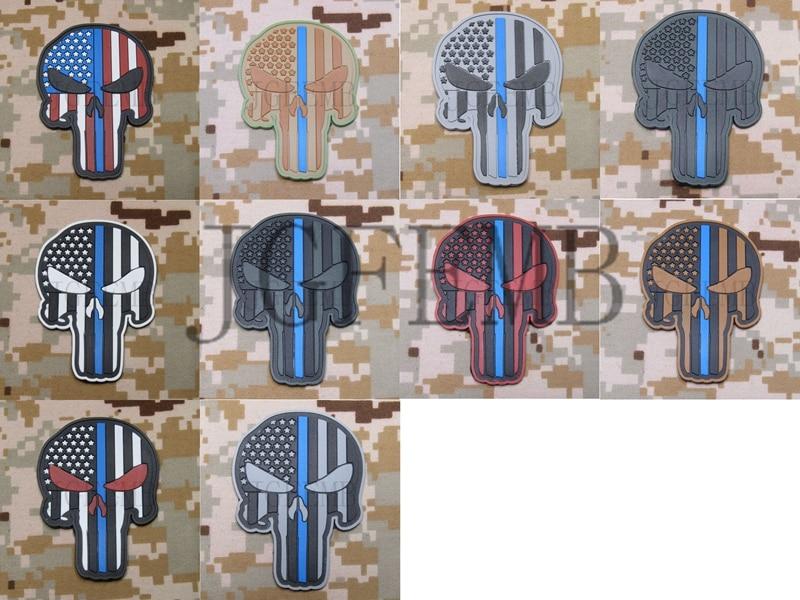 Die dünne blaue Linie amerikanische Flagge SEAL TEAM Skull Military - Kunst, Handwerk und Nähen