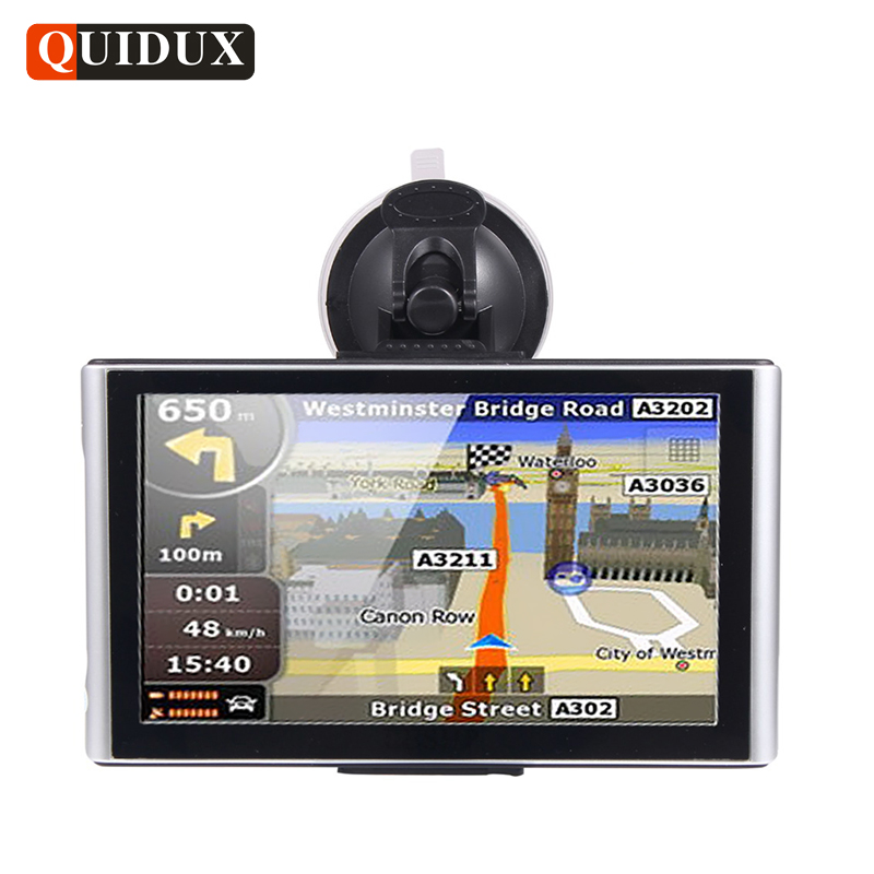 QUIDUX 7.0 Inch Free Map GPS Navigation Android 512M/8G Full 1080P Car DVR Video Camera Recorder WiFi sat nav vehicle Navigator junsun 7 inch car gps navigation android bluetooth wifi russia navitel europe map truck vehicle gps navigator sat nav free map
