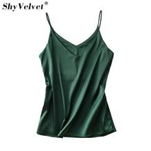 Camis Silk Halter Top Women Camisole 2017 Summer Style Sexy Sleeveless Vest Slim Crop Top Roupas Femininas Solid Pink Red White цены