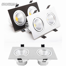 Dimmable Led downlight light COB Ceiling Spot Light 7W 9W 2*7W 2*9W 85-265V ceiling recessed Lights Indoor Lighting