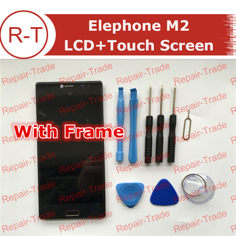 Elephone M2 LCD Screen With Frame 1920X1080 lcd display+Touch Panel Replacement For 5.5inch Elephone M2 cellphone Free Shipping