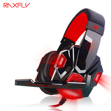 RAXFLY PC780 Auriculares Casque Audio PC Gaming Headset Auriculares Con Micrófono Estéreo Bajo de Luz LED