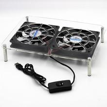 DC 5V USB 120*120*25mm Laptop Pads holder Wireless router set-top TV box stands Cooler Cooling Fan heatsink bracket цена