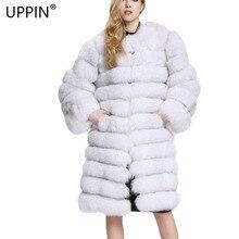 UPPIN шуба из страуса шуба толстые теплые Для женщин искусственного меха пальто мода поддельные натуральный Лисий длинные Стиль шубы Для женщин На зимнем меху жилеты верхняя одежда куртка куртка женская дубленка