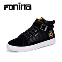 FONIRRA Men Sneaker Boots Botas 2018 Fashion Metal Decoration Casual Men Boots New Spring Lace Up