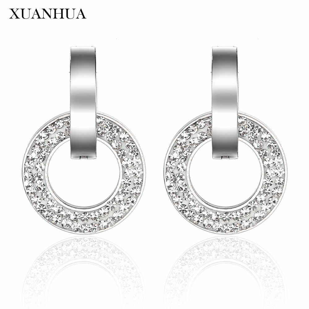 Xuanhua Stud Anting-Anting Stainless Steel Perhiasan Wanita Vogue 2019 Perhiasan Aksesoris Pesona Bohemian Mass Effect
