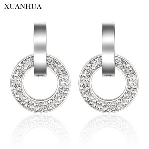 XUANHUA Stud Earrings Stainless Steel Jewelry Woman Vogue 2019 Jewelry Accessories Charm bohemian Mass Effect