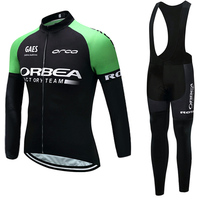 Winter 2018 ORBEA Cycling Team JERSEY Bike Pants Set Mens Ropa Ciclismo Thermal Fleece Bicycle Clothing
