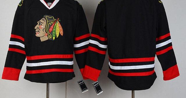 1cd37dc70 Chicago Blackhawks Jersey Mens Ice Hockey Jerseys For Cheap Blank BlackRed  BJ0648