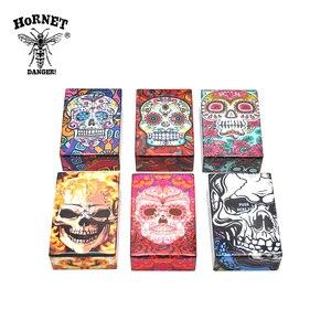 Image 5 - Hornet butterfly & crânio cigarro cigarro plástico caso bolso tamanho 95mm * 60mm cigarro caixa capa fumar cigarro titular