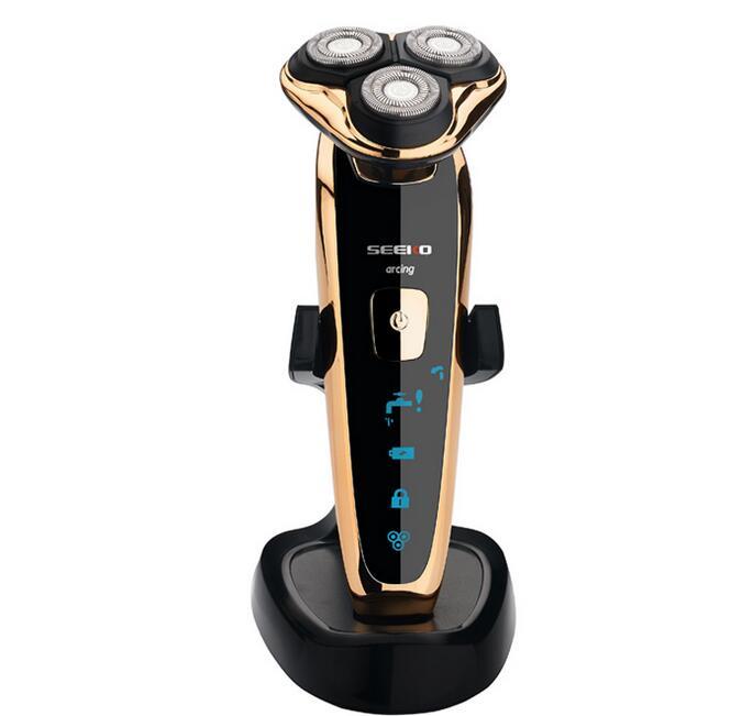 4D rasoir électrique Machine à laver le corps épilation hommes 3-tête flotteur visage barbe tondeuse de nez rasage rasoir tondeuse Rechargeable