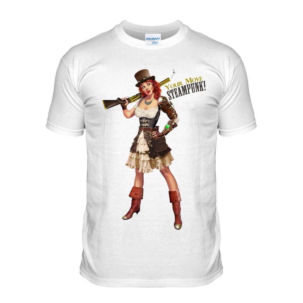 806effbd2c809 T-Shirt 2019 Fashion Men Classic Tops Tee Shirts Pin Up Girl Vintage  Steampunk Retro Victorian Sexy Corset GogglesAdult T-Shirt