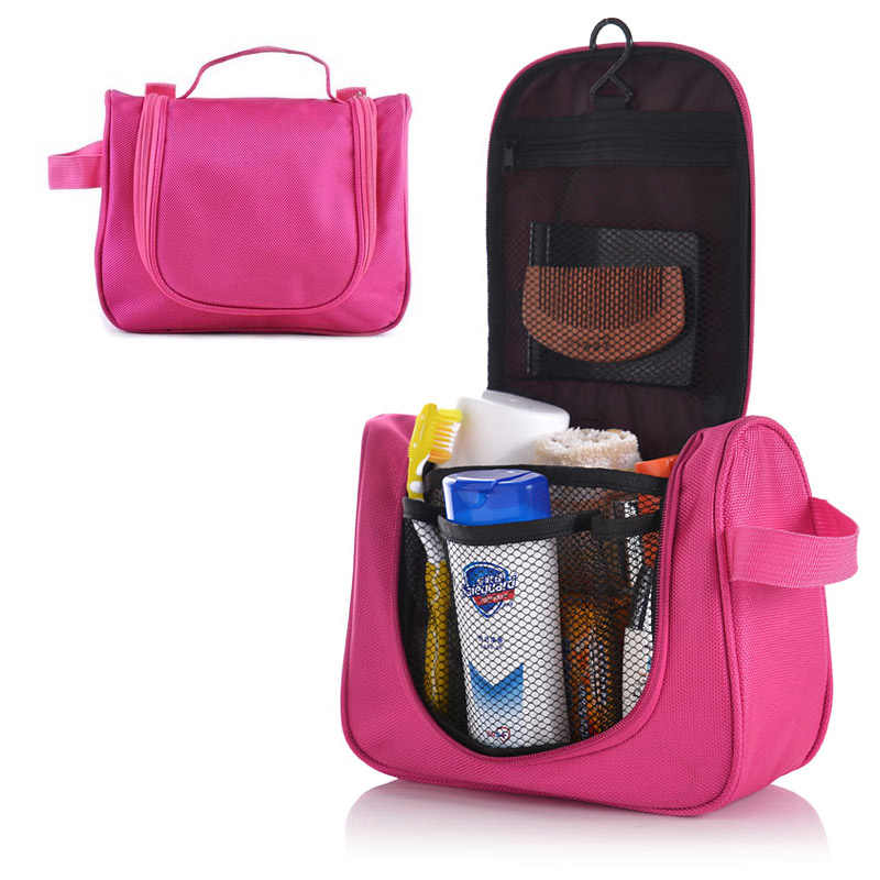 0b43fd113fbd DINIWEL Camping Holiday Travel Toiletry Organizer Wash Bag Makeup Organiser  Zipper Mesh Pocket Storage For Make Up Cosmetics