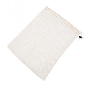 Image 4 - Wielokrotnego użytku z bawełny organicznej warzyw torba z siatki dla mężczyzn kobiety w domu kuchni zmywalny owoce spożywczy sznurek zakupy torby do przechowywania