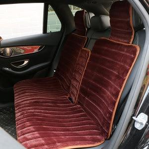 Image 3 - 2 個冬豪華な車のシートカバー高級人工ウサギの毛皮の車のシートクッションcloac暖かい美しい