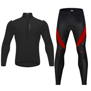 Image 2 - WOSAWE High Visibility Men Cycling Clothes Gel Pad Waterproof Fleece Tight Pants Jersey Set Shirts MTB Bike Sports Suit Clothing