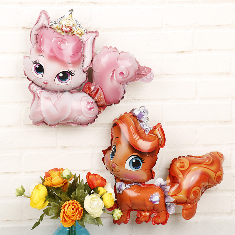 1Pc 29x44cm Jungle Animal Tiger Lion Monkey Fox Horse Air Helium Balloon Kids Safari Birthday Party Decor Zoo Theme Supplies in Ballons Accessories from Home Garden