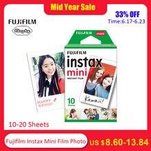 adc6b36c5 10 20 ملاءات فوجي فيلم Instax ميني فيلم أبيض لقطة ورق طباعة الصور ألبوم  الفورية طباعة