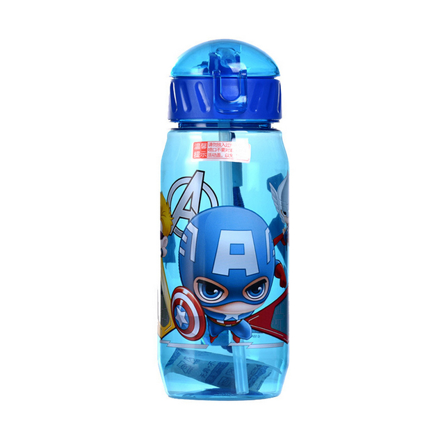 Miljøvennlig Kids Drikke Cartoon Vannflasker BPA free Straw Barn Bottle Barn Kettle Bærbare Sports flaske