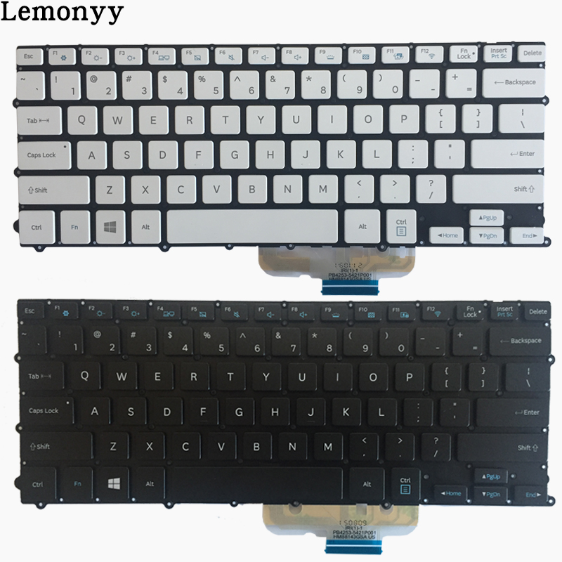 NEW US Laptop Keyboard For Samsung NP900X3L 900X3L US keyboard With Backlit white/black new english for samsung np700z7a np700z7b np700z7c backlit keyboard us laptop keyboard with c shell