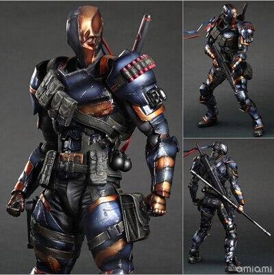 NEW hot 28 cm Deathstroke Nuovo Teen Titans versione Migliorata collezionisti action figure giocattoli Di Natale giocattolo
