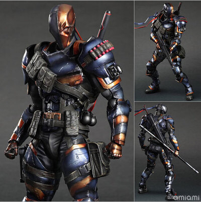 NEW hot 28cm Deathstroke New Teen Titans Enhanced version collectors action figure toys Christmas toy new hot 28cm justice league supergirl superman enhanced version action figure toys collection christmas toy doll with box