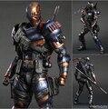 NUEVA caliente 28 cm Deathstroke Nueva versión Mejorada de Teen Titans juguetes figura de acción de colección de juguetes de Navidad