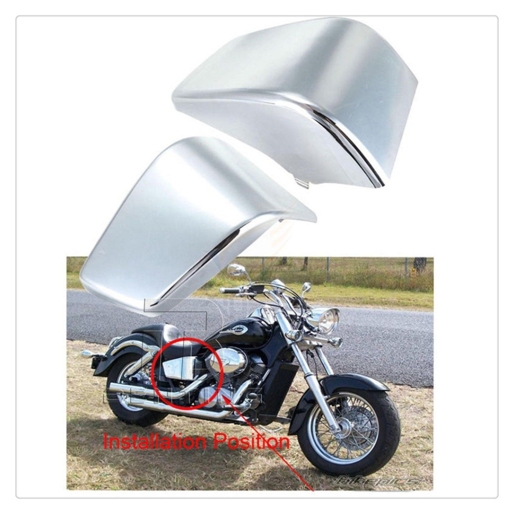 3 Colors Motorcycle Battery Side Cover Frame Neck Cover Cowl For Honda Shadow ACE VT400 / VT750 1997-2003 98 99 00 01 02 стоимость