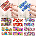 1sheets Colorful Flower New Beauty Nail Art Water Transfer Nail Sticker Nail Art Decorations Polish Gel Full Cover DIY NC085