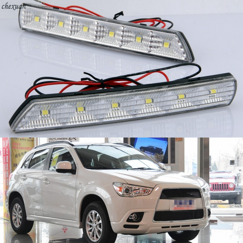 CSCSNL 1 set For Mitsubishi ASX 2010 2011 2012 DRL Daytime Running lights daylight car LED