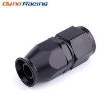 Aluminum AN8 AN-8 Straight PTFE Swivel Oil Fuel Gas Line Hose End Adaptor Black Color YC101287