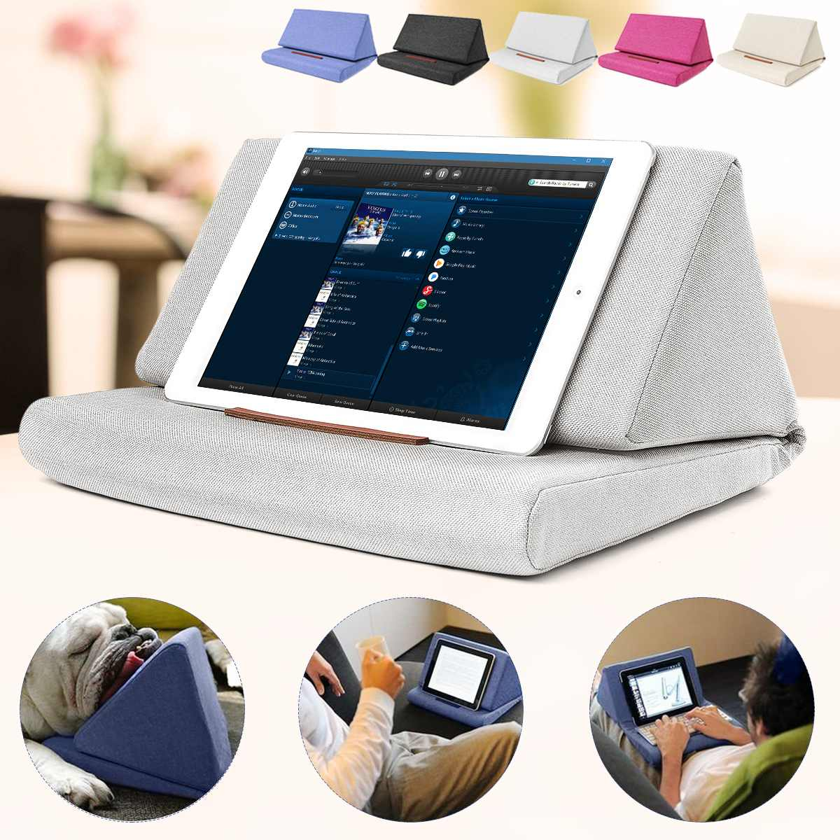 Multi-function Laptop Cushion Holder Colorful Lapdesk Tablet Stand Pillow Polyester Cutton PC Reading Bracket Pillow For Ipad