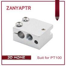 ZANYAPTR Volcano heater block for E3D Volcano hotend Thermistor sensor PT100 3D printer 24x20x12mm