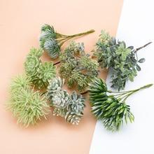 6 uds flores de seda para álbum de recortes plantas artificiales para la decoración de la boda del hogar flores de plástico falsas coronas de flores decorativas