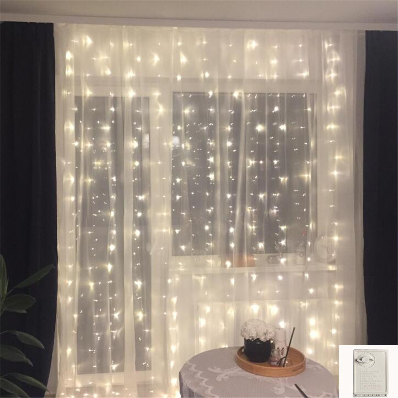 3*2M 180Led Icicle Led Curtain Fairy String Light Memory Fairy Light 220V EU Light For Wedding Home Garden Party Twinkly Cortina