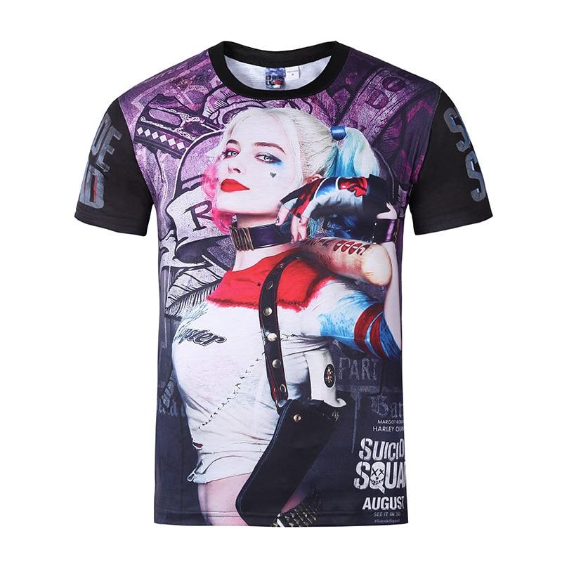 3b19c7714a0 Spring Summer Women Men s 3D Print Suicide squads Quinn Pokemon Short Sleeve  Streetwear Cool Street Unisex Hip Hop T Shirt