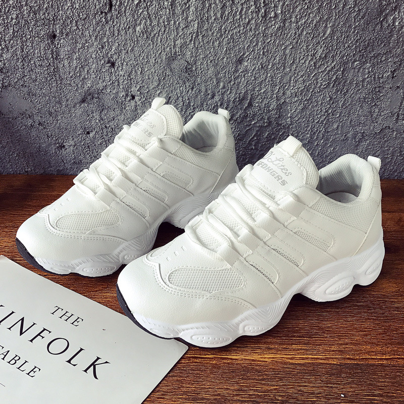 Women shoes 2018 new spring Clunky Sneakers trainer loafer air non-slip Casual shoes joker fashion thick student tenis