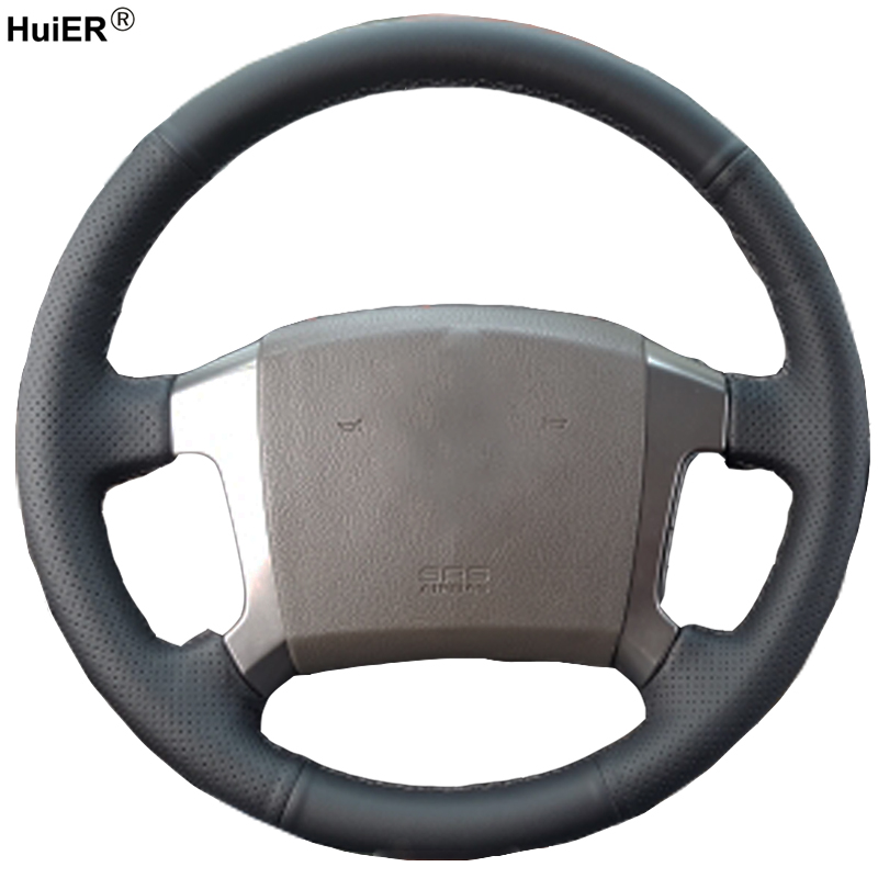 HuiER Hand Sewing Car Steering Wheel Cover Microfiber Breathable Car Styling For Kia Sorento 2003 2004 2005 2006 2007 2008 2009 huier hand sewing car steering wheel cover black leather for land rover discovery 3 2004 2009 steering wheel auto accessorie