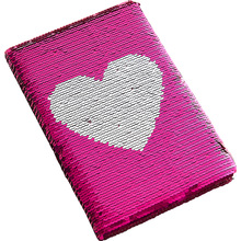 New A5 Notebook Color Reversible Sequin Love Heart Diary Notebook 78 Page Notebook Journal DIY Personal Diary Note Book цены онлайн