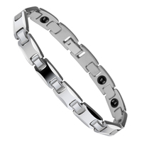 USA Hot Selling Jewelry Tungsten Carbide Bracelets With Magnetic Germanium Stone His and Her Best Gift 20cm/21cm Length