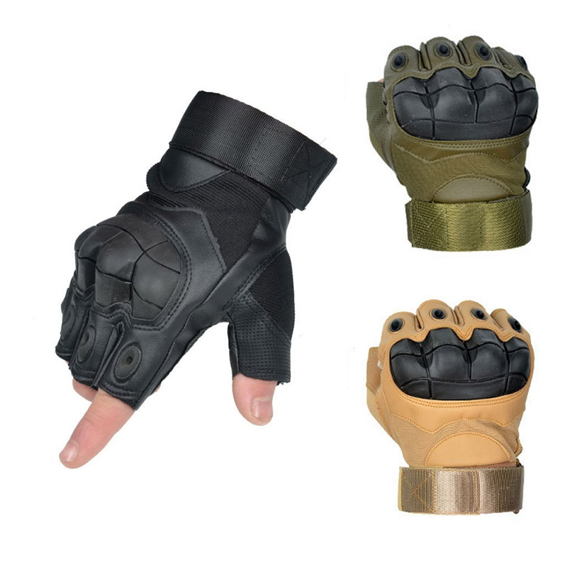 3 Colors Hunting Gloves Half Finger Hiking Gloves Military Airsoft Shooting Fitness Cycling Assault Combat Tactical Gloves