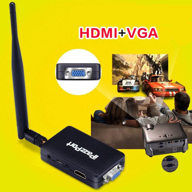 Wireless Screen Push Treasure VGA HDMI Dual Interface HD Dongles Airplay Miracast 2.4G+5G Wireless