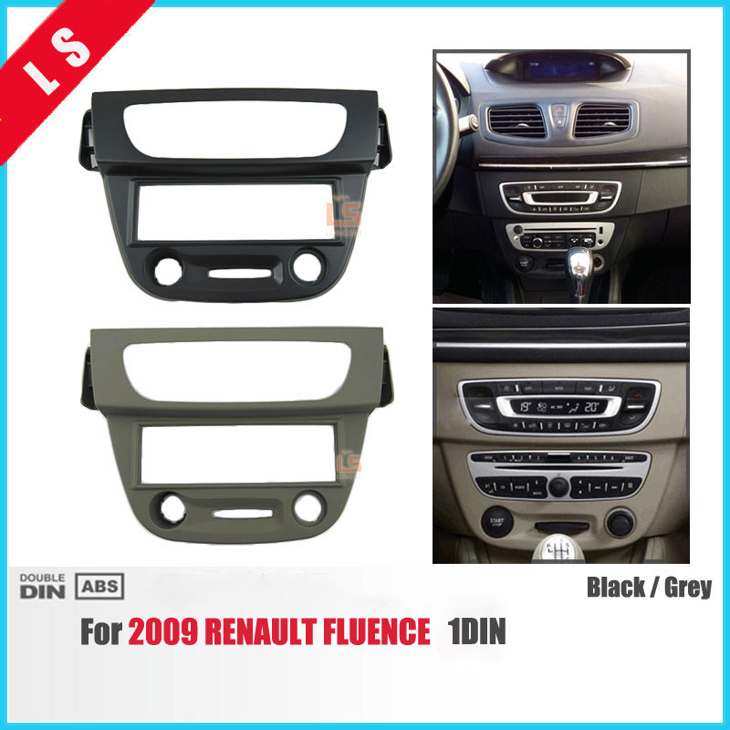 1 Din Car Audio Fascia for 2009 RENAULT Fluence 1DIN Radio CD GPS DVD Stereo CD Panel Dash Mount Installation Trim Kit Frame 11 405 car radio dash cd panel for kia skoda citigo volkswagen up seat mii stereo fascia dash cd trim installation kit