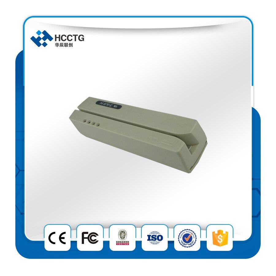 Mini lecteur de carte magnétique msr/lecteur mobile programmable/writer-HCC206