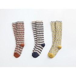 Myudi-meias para crianças estilo coreano quente grosso algodão meninos menina meias descascadas slub fio joelho altas meias longas para crianças 1-9y